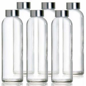 Glasflasche -Trinkflasche 6er Set Mit Nylon Schutzhüllen Wasserflaschen