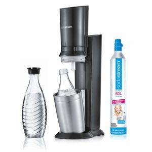 SodaStream CRYSTAL 2.0 Glaskaraffen Wassersprudler zum Sprudeln von Leitungswasser